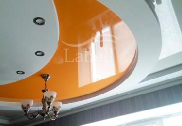 Натяжные двухъярусные потолки