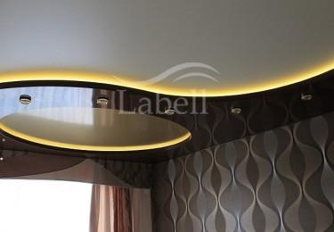 Натяжные потолки двухуровневые с подсветкой