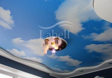 Натяжной потолок 2 уровня фото