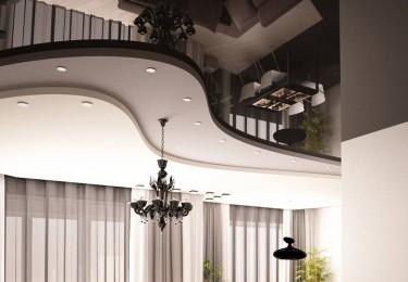 Натяжные многоуровневые потолки фото