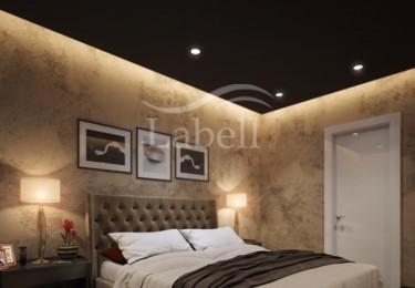 Парящий потолок в спальне
