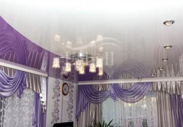 Комбинированные натяжные потолки в зале