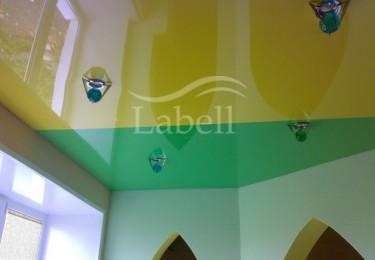 Двухцветный натяжной потолок цена